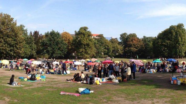 Preußenpark Berlin beschwerden anwohnern ofen aus für die food wiese in