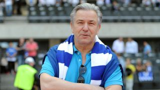 Klaus Wowereit, ehemaliger Regierender von Berlin, beim damaligen Bundesliga-Spiel Hertha BSC - Energie Cottbus am 19.05.2013 im Olympiastadion in Berlin(Bild: Britta Pedersen, picture alliance / dpa )