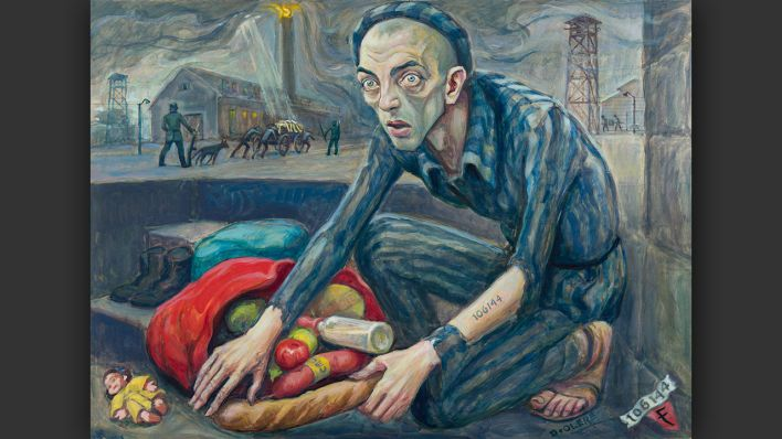 David Olère - Food of the dead for the living © Staatliches Museum Auschwitz-Birkenau