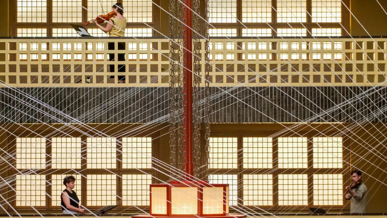 Kunst im Bau: Solistenensemble Kaleidoskop; © Thomas Ernst