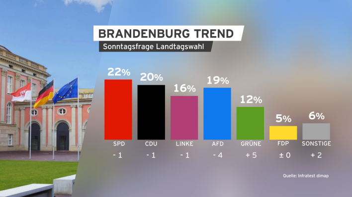 BrandenburgTREND April 2019 Sonntagsfrage