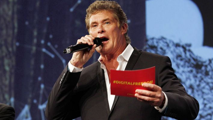David Hasselhoff bei der re:publica 2014 (Quelle: imago)