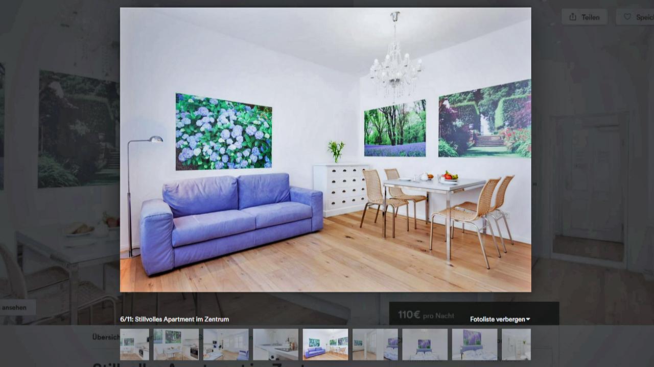 Die Präsentation Einer Wohnung Auf Airbnb (Quelle: Rbb)