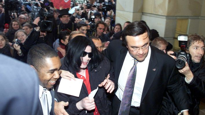 Pop Star Michael Jackson im Adlon-Hottel