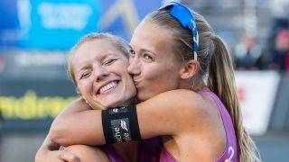 Ein starkes (Beachvolleyball-)Team: Kim Behrens und Sandra Ittlinger. imago/Beautiful Sports