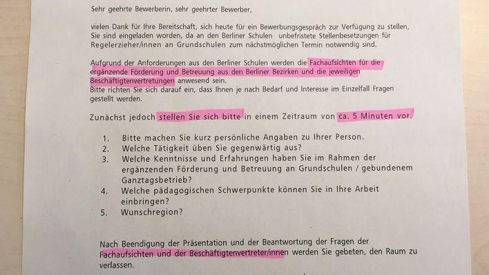 Bewerbungsgespräch Mit 40 Schulleitern Wie Der Berliner Senat Hort