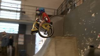 Wheelchair-Motocross in Berlin, (Bild: rbb)