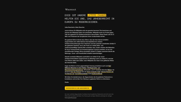 Schwarze politische Webseiten