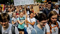 Schülerprotest 'Friday For Future' am 24.05.2019 in Berlin (Quelle: dpa/Schreiber)