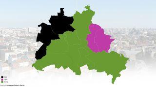 Meistgewählte Partein in Berlin (Quelle: Landeswahlleiter)