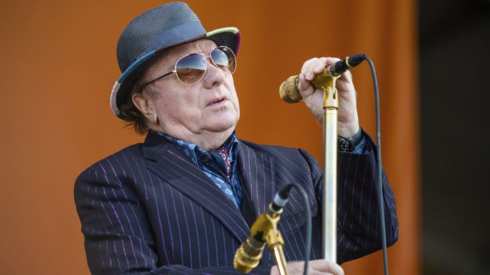 Van Morrison bei einm Konzert in New Orleans, April 2019(Quelle: dpa/Amy Harris)