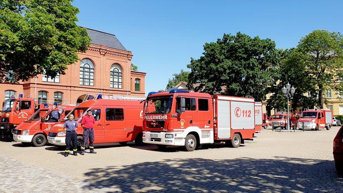 Feuerwehr in Forst (Quelle: rbb/Sebastian Schiller)