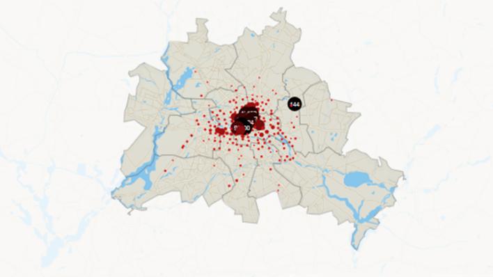 Rote Karte Berlin Mitte.Rbb 24 Datenanalyse Schon 4 800 E Scooter In Berlin Fast Die Hälfte Allein In Mitte
