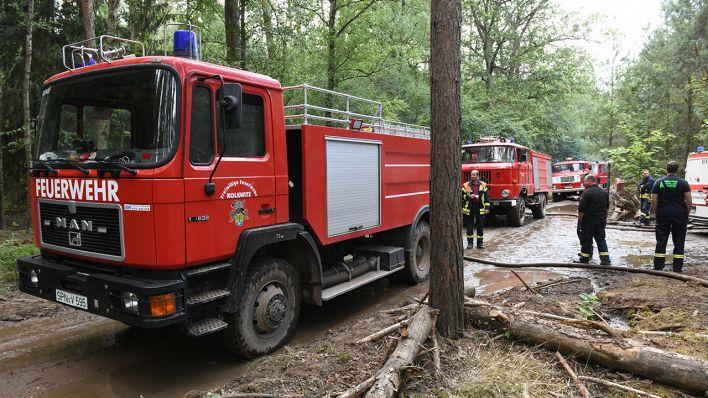 Zwei Moore jetzt Brandschwerpunkte in der Lieberoser Heide