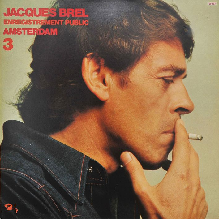 "Cover der LP ""Enregistrement public Amsterdam "" von Jacques Brel (Quelle: dpa/ Fellens)"