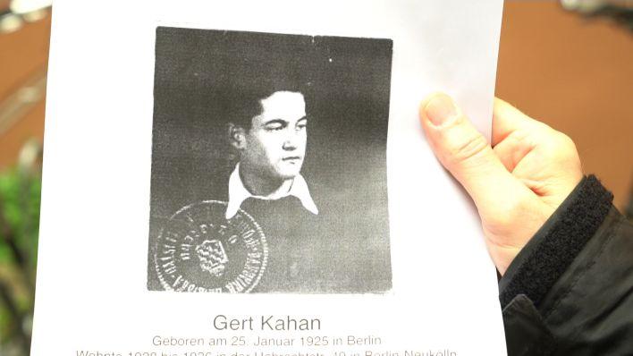 Ein Foto von Gert Kahan, der von den Nazis verfolgt wurde und 1942 nach Palästina und dann Kanada floh. (Quelle: rbb)