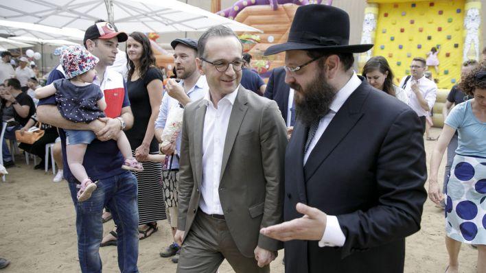 Nach Angriff auf Rabbiner Teichtal: Maas spricht Grußwort