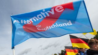 Wehende AfD Fahne