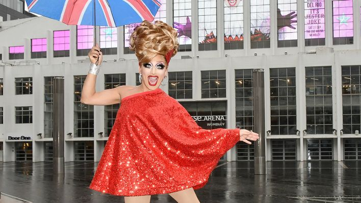Bianca Del Rio vor der London SSE Arena in Wembley vor ihrer Tour im September 2019 (Quelle: dpa/matrixpictures.co.uk)