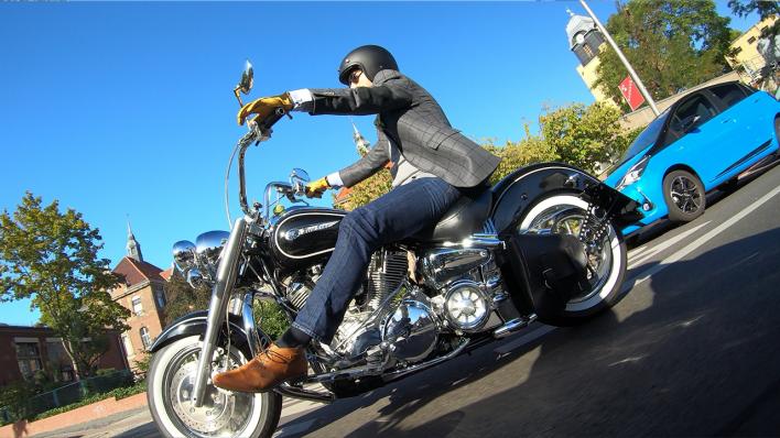 Auf Motorrädern für Männergesundheit