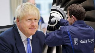 Boris Johnson/Rolls Royce (Quelle: dpa/Imago)