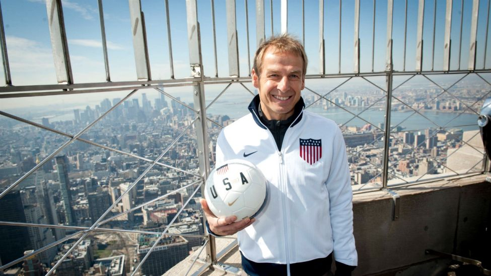 Jürgen Klinsmann auf dem Empire State Building (Foto: imago images / ZUMA Press)