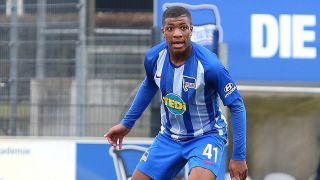 Hertha-Talent Jessic Ngankam. / imago images/Andreas Gora