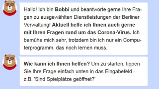 Screenshot Chatbot Bobbi (Quelle: Screenshot berlin.de)