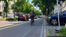 Ein Pop-Up Radweg in Berlin (Quelle: rbb/Fabian Stratmann)