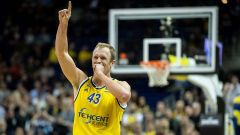 Basketball Berlin 27.02.2020 EuroLeague Euro League Euroleague Regular Season Saison 2019 / 2020 Alba Berlin - Efes Istanbul Luke Sikma Alba Berlin, No.43  (Quelle: imago images / Tilo Wiedensohler).
