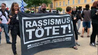 Black Lives Matter Demo in Eberswalde, Quelle: rbb