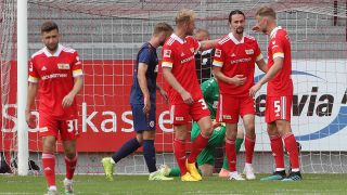 Union Berlin beim Testspiel in Cottbus (imago images)