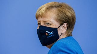 Angela Merkel am 28.8.2020 (Bild: imago images/Thomas Trutschel)