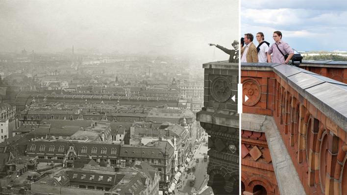 Fotos von Berlin 1920 im Vergleich zu heute