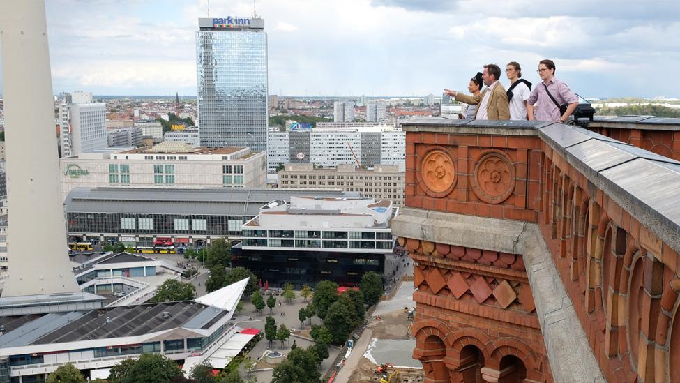 Blick in Richtung Alexanderplatz vom Turm des Roten Rathauses am 31.08.2020. (Quelle: rbb 24/Caroline Winkler)