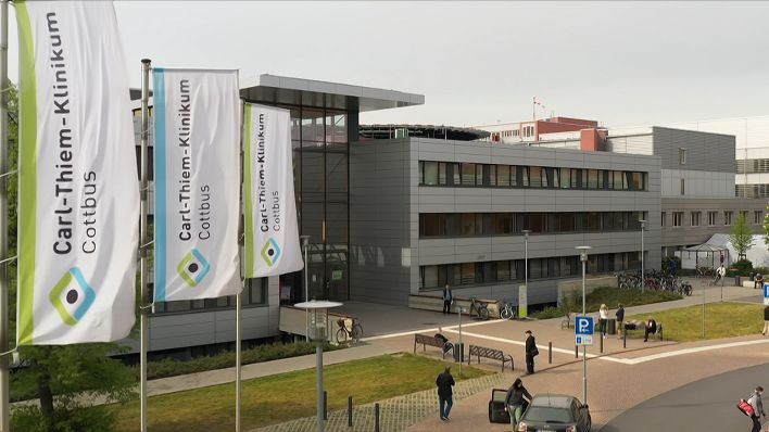 Carl-Thiem-Klinikum in Cottbus, Quelle: rbb