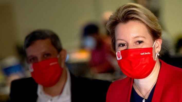 SPD-Landesvorstand nominiert Giffey als Spitzenkandidatin für Berlin-Wahl 2021