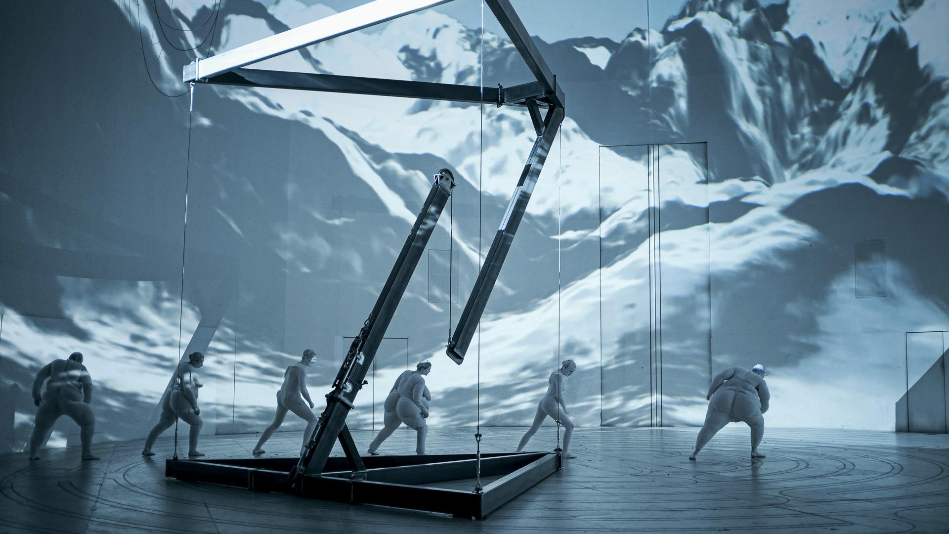 Der Zauberberg nach Thomas Mann, Regie/Bühne: Sebastian Hartmann (Quelle: Deutsches Theater/Arno Declair)
