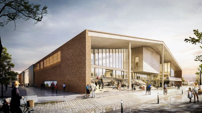 Status of planning for the Museum of the 20th Century at the Kulturforum, March 2021. (Source: Herzog & de Meuron)
