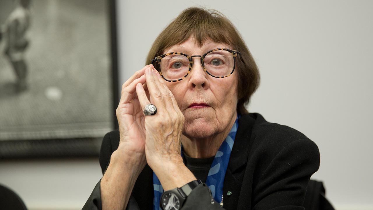 Die Fotografin June Newton (Quelle: dpa/Jörg Carstensen)