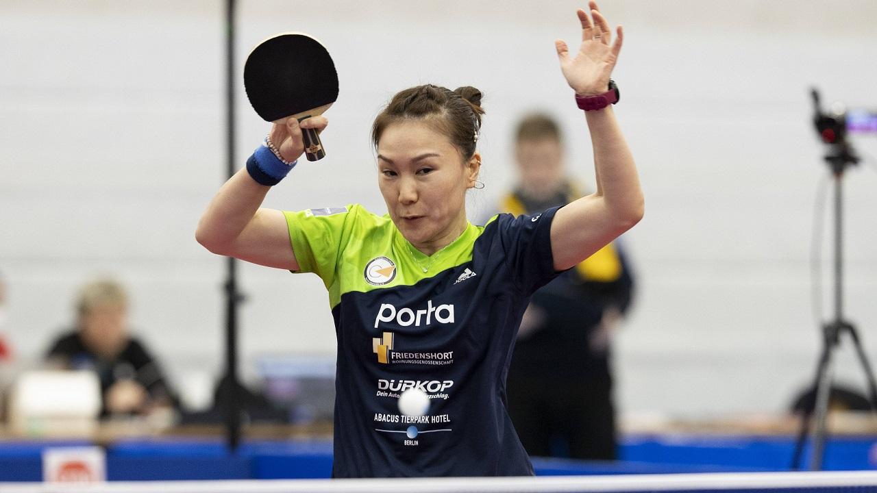 Shan Xiaona spielt den Ball / IMAGO / Kirchner-Media