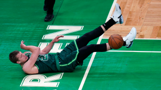 Moritz Wagner in einem Spiel der Boston Celtics. Quelle: dpa/ASSOCIATED PRESS