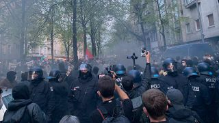 """Revolutionäre 1.-Mai-Demo"" in Berlin-Neukölln (Quelle: rbb)"
