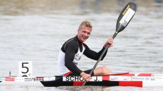 Jacop Schopf beim Kanu-Weltcup in Szeged. Quelle: imago images/GEPA pictures