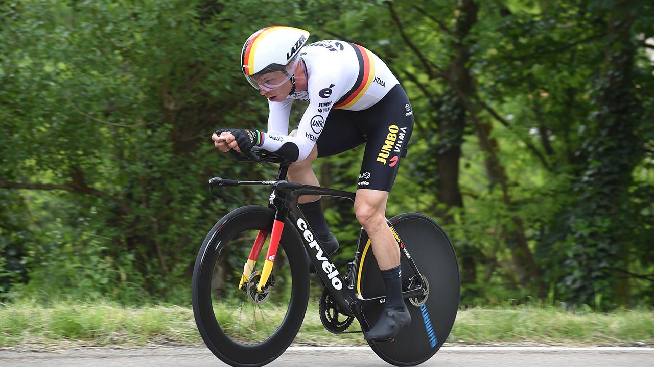 Tony Martin bei einem Rennen Anfang Juni 2021. / imago images/Sirotti