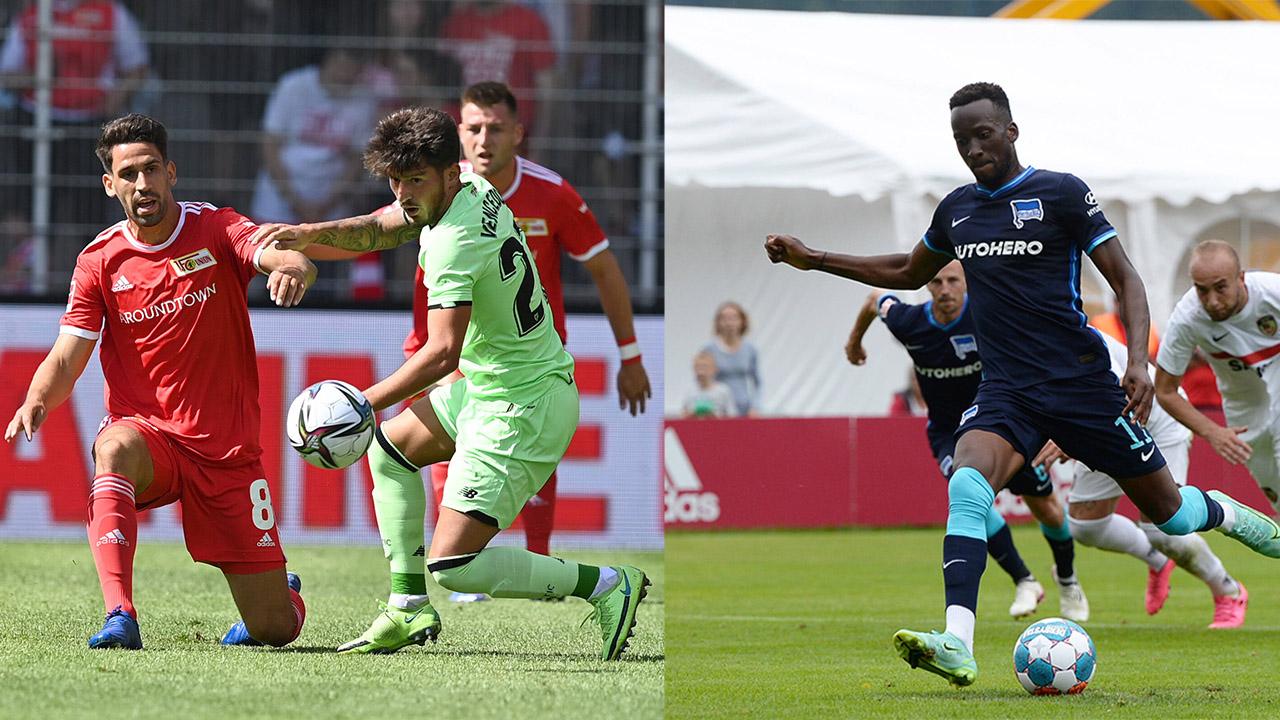 Szenen aus den Testspielen von Hertha BSC und dem 1. FC Union (Quelle: