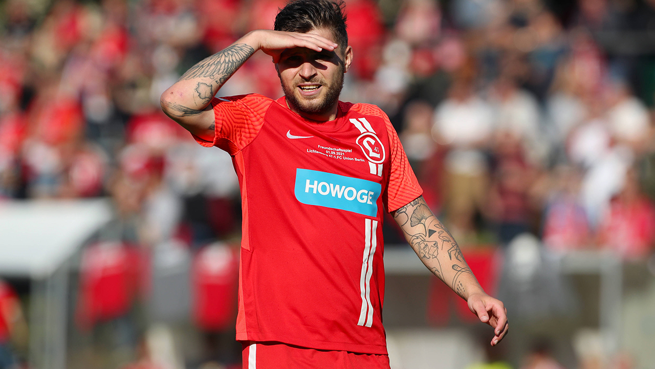 Christian Gawe vom Regionalligisten SV Lichtenberg 47(Bild: imago images/Contrast)
