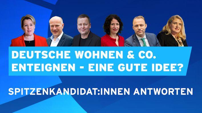 Video   Spitzenkandidat:innen antworten: Deutsche Wohnen & Co. enteignen – eine gute Idee?