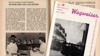 Artykuł o przeniesieniu Gerharta Hauptmanna do Wigwizard Forest 1962 (fot. Frank Henschel Collection)